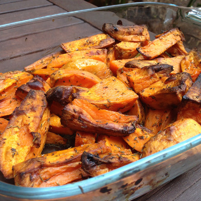 Patatas de boniato o sweet potato wedges