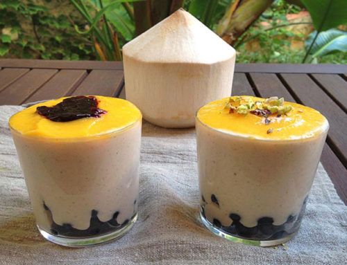 Yogur de coco saludable y nutritivo